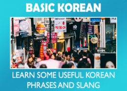 Basic Korean: Learn some essential and slang phrases.
